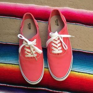 Mossimo Peach Lace up Sneaker Tennis Shoe Sz 9